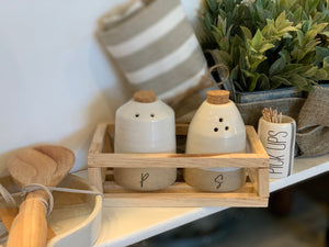 Crate Salt & Pepper Set