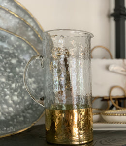 Gold Glass Pitcher