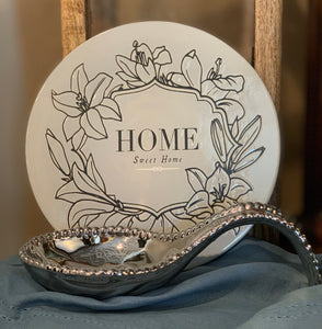 Silver Porcelain Spoon Rest