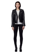 MARTA LEATHER JACKET BLACK