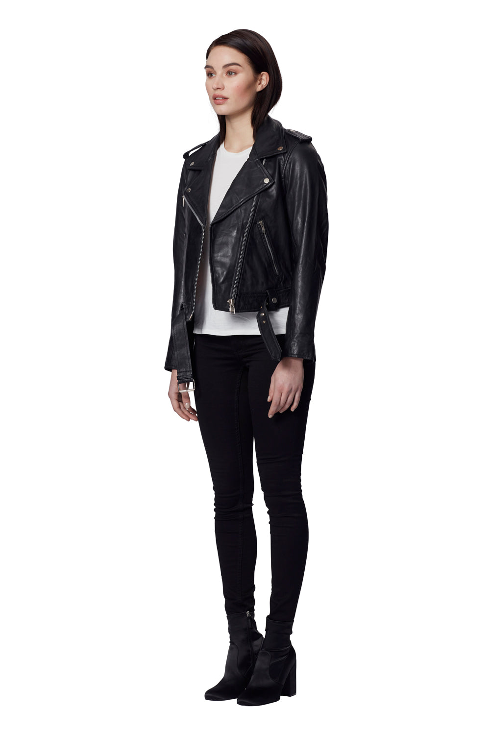 TAYLOR LEATHER JACKET BLACK