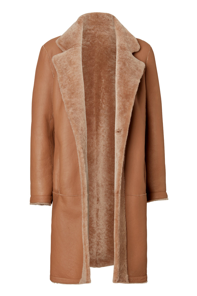CLAIRE REVERSIBLE COAT CAMEL
