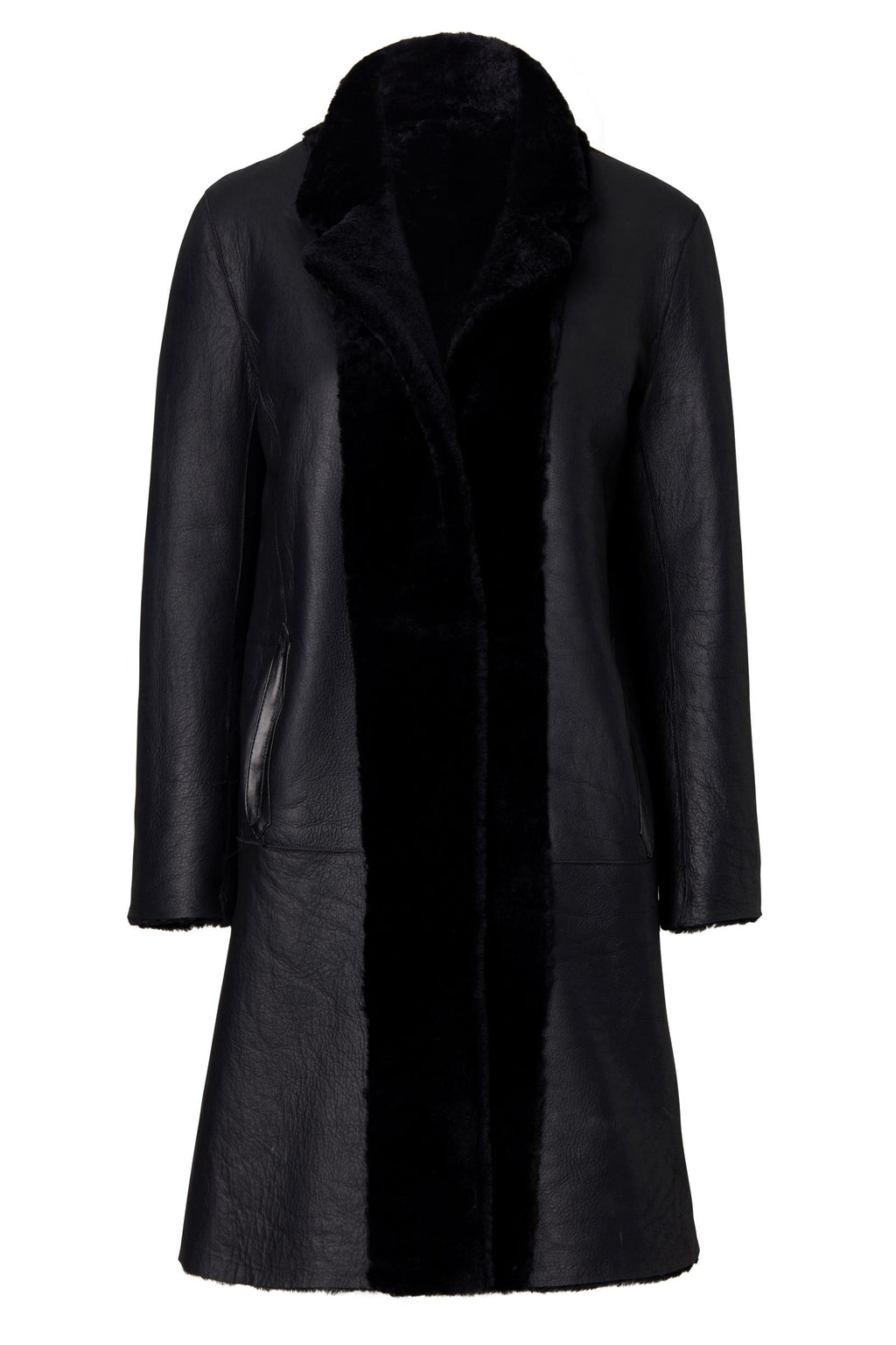 CLAIRE REVERSIBLE COAT BLACK