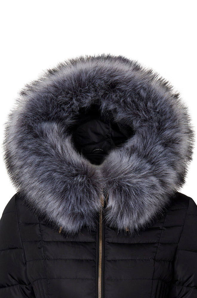 FAUX FUR COLLAR GREY
