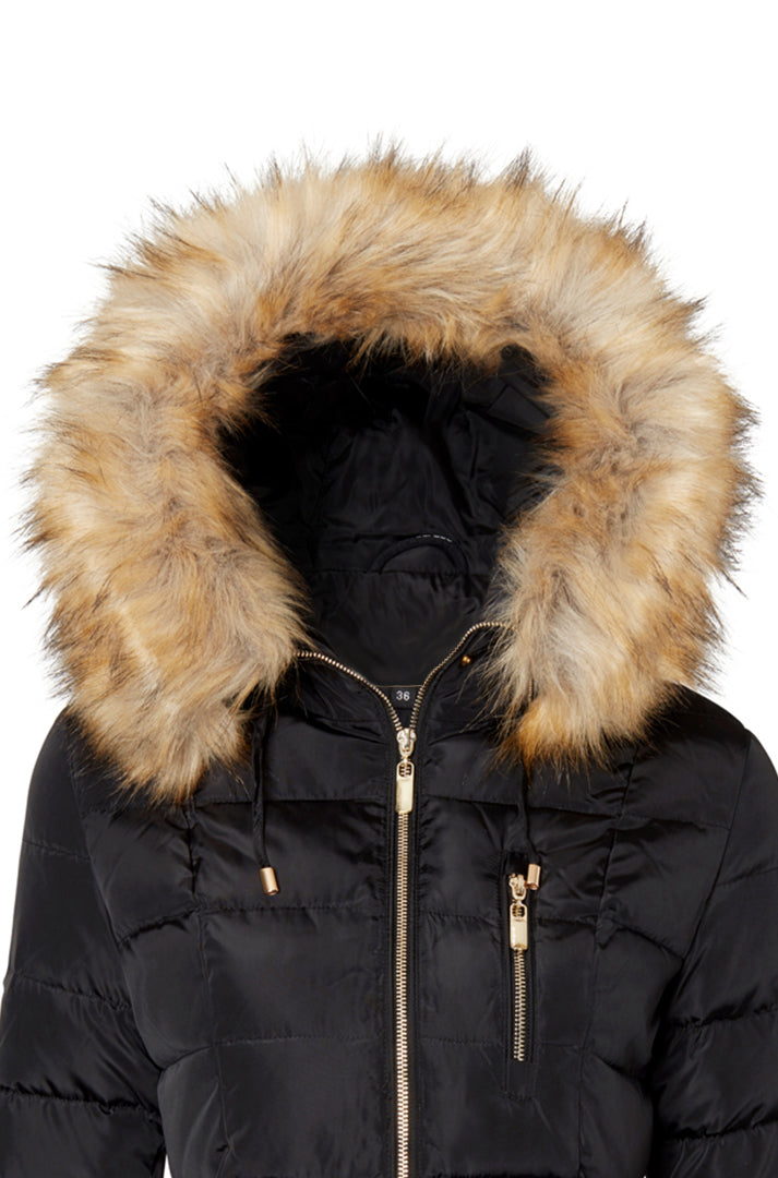 TIFFANY BLACK/NATURE FAUX FUR