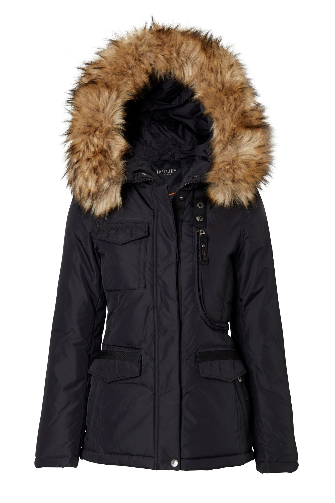 LIVIGNO BLACK/NATURE FAUX FUR