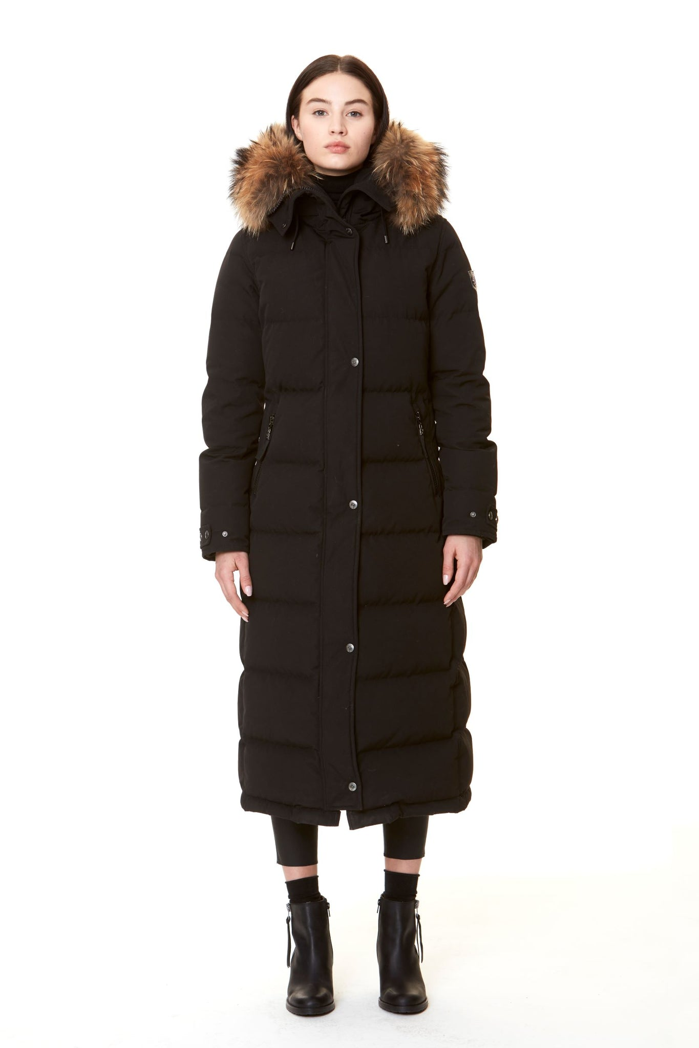 METRO BLACK/NATURE FAUX FUR