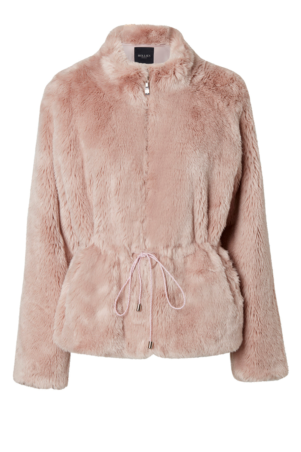 REGINA FAUX FUR DUSTY PINK