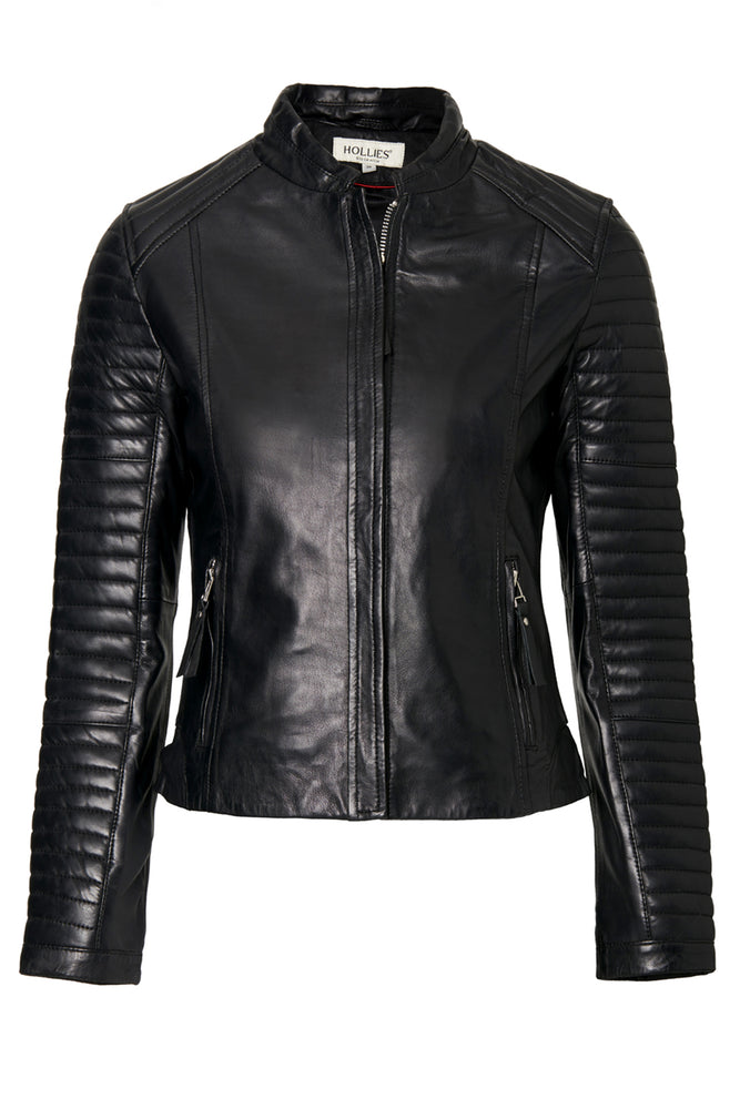 RIHANNA LEATHER JACKET BLACK