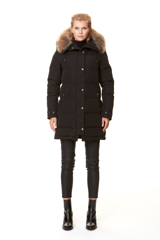 SUBWAY BLACK/NATURE FAUX FUR