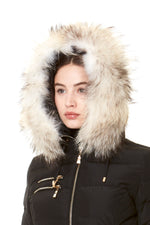 FUR COLLAR WHITE