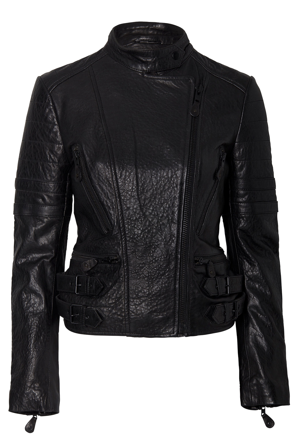 JOHANNA LEATHER JACKET BLACK