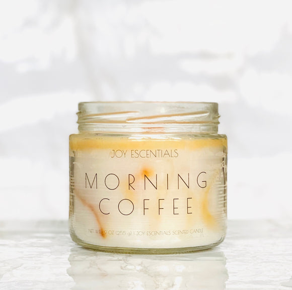Morning Coffee Wooden Wick Candle