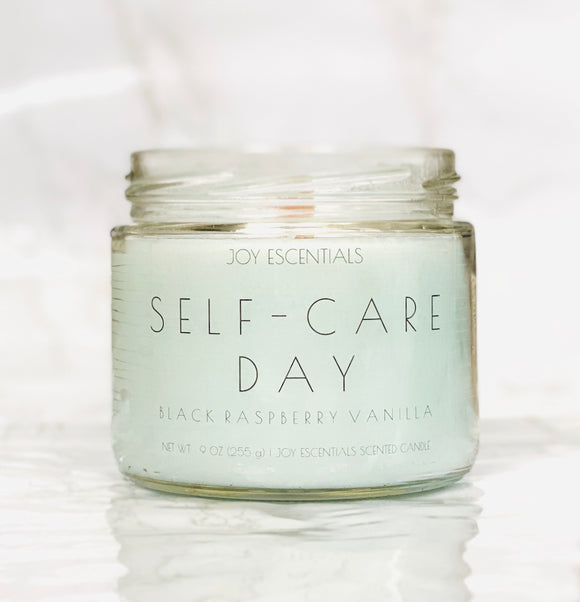 Self-Care Day Wooden Wick Candle