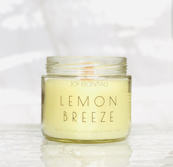 Lemon Breeze Wooden Wick Candle