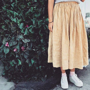Mawar linnen skirt Mysayang Bali In yellow