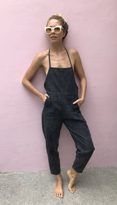 Mysayang Bali beachwear sensuai jumpsuit in Black