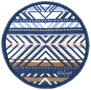 The beach people round beach towel