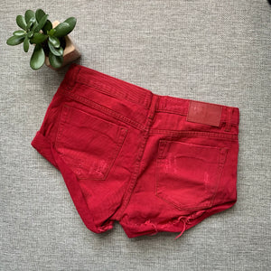 One Teaspoon Red Envy Bandit Shorts