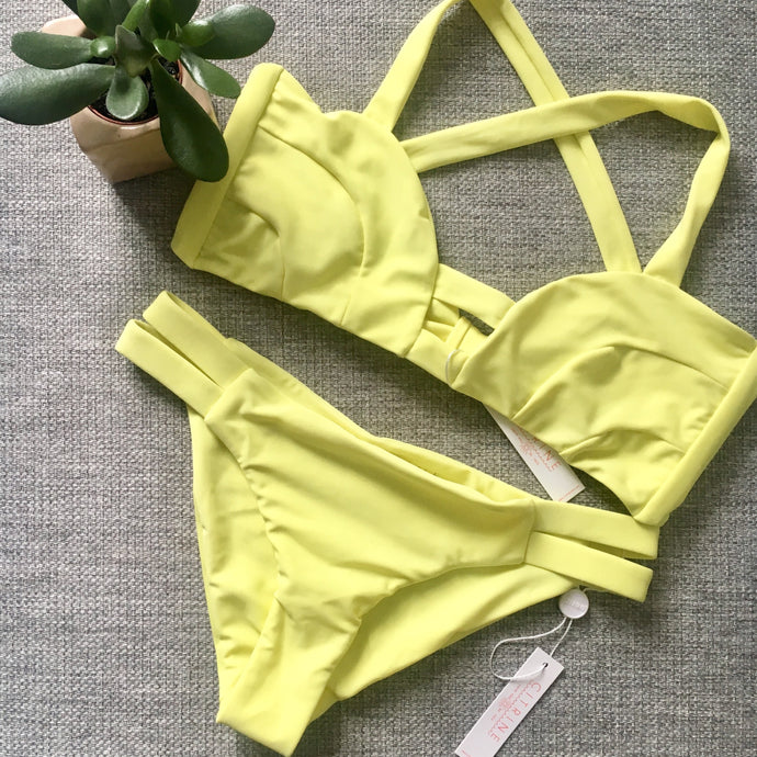 Lilly Bottom by Citrine swimwear in Citron