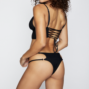 Paige Bottom by Frankies Bikinis black studio j.ee