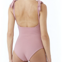 Indie one-piece by Citrine Swimwear in rose quartz