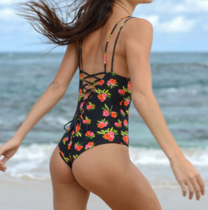 floral MARLA Surf one piece by Cami&Jax