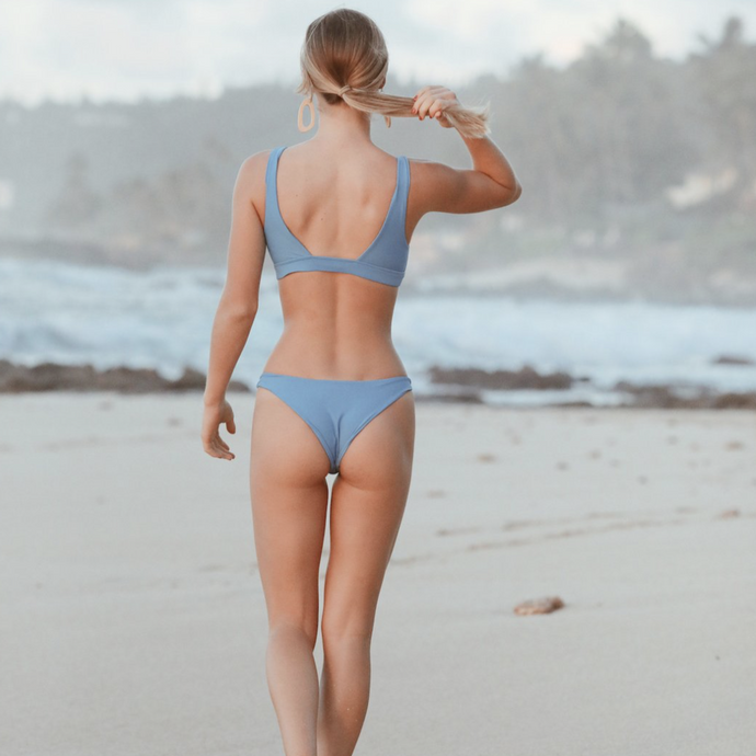 Fitzroy Bikini Bottom by Aila Blue in ocean