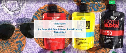 An Essential Beach Item: Reef Friendly Sunscreen