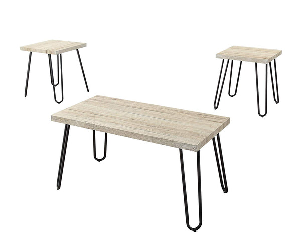 Set of 3 Coffee Table and End Table