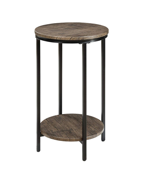 Antique Wood Finish Two-Tiered End Table