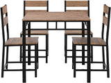Modern Rustic 5-Piece Set Dining Table Set with 4 Chairs