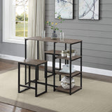 Modern Rustic 3-Piece Dining Table Set
