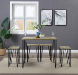 Abington Lane Kitchen Table Set with 4 Stools