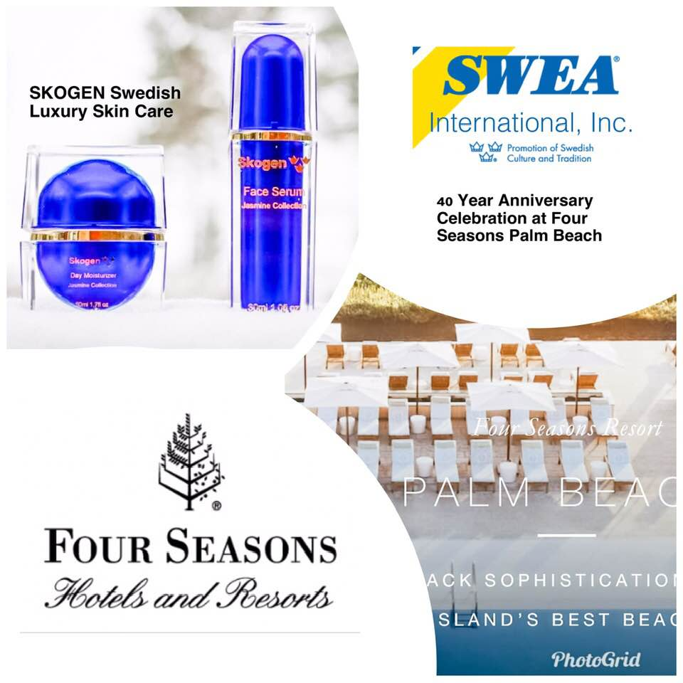 Skogen proud sponsor of SWEA 40th Anniversary at Four Seasons Resort in Palm Beach!