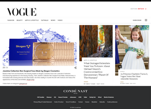 Skogen featured in British Vogue Magazine for 3rd executive month in a row - May Edition (both Hard Copy & online)