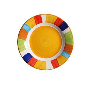 Artsy hipster plates in various colors
