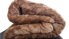 Load image into Gallery viewer, BROWN LUXURY FAUX FUR SHERPA BLANKET