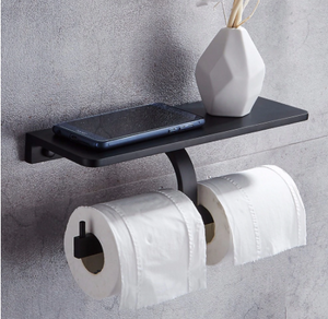 The Loo Ledge Dual - Toilet Paper Holder with Shelf