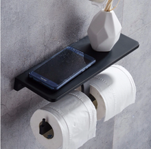 Load image into Gallery viewer, The Loo Ledge Dual - Toilet Paper Holder with Shelf