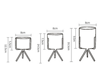 Load image into Gallery viewer, size specifications for 3 planter pots