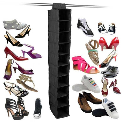 10 Pockets Hanging Shoe Organizer for your Wardrobe