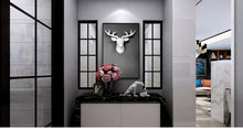 Load image into Gallery viewer, bajouka white deer head home decorative piece placed in a entrance way