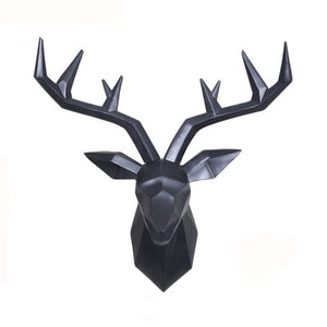 Bajouka black deer head home decor piece