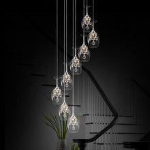 Load image into Gallery viewer, 8 cocktail chandelier lights shaped in a wine glass