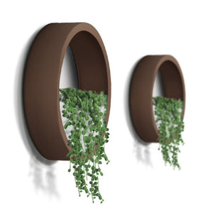 Croft Modern Circular planter Collection with plants for Wall decor