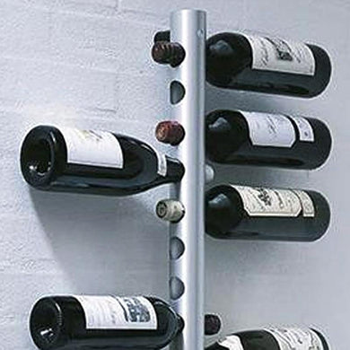 Modern Stainless steel Wall rack with alcohol bottles