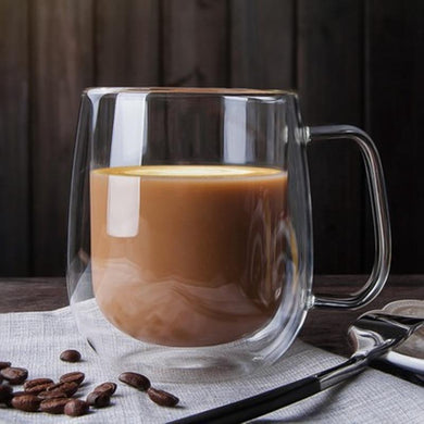 double insulated glass 250 ml with hot beverage