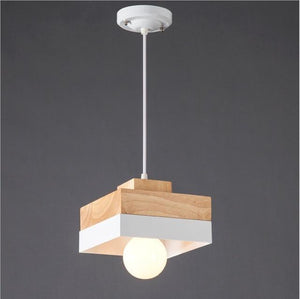 WHITE SQUARE FABY TWO TONE CEILING LIGHT