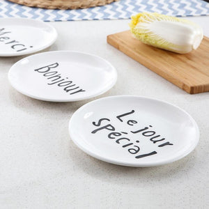 FRENCH BREAKFAST PLATES (SET OF 4) FunkChez